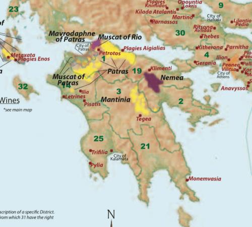 map of peloponnese region