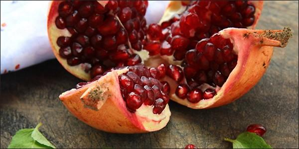 an opened pomegranate