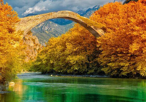 a bridge and a river